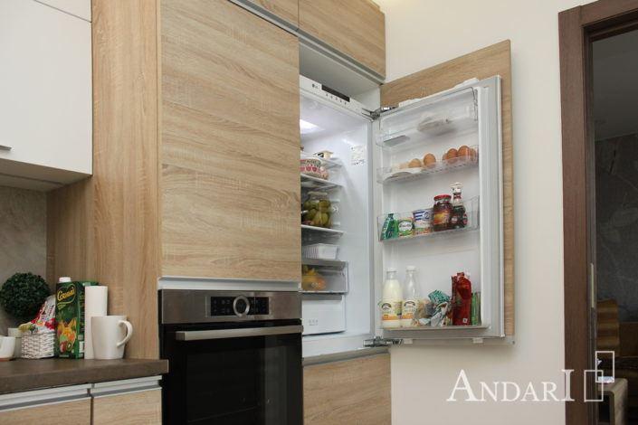 угловая кухня андари встроенный холодильник