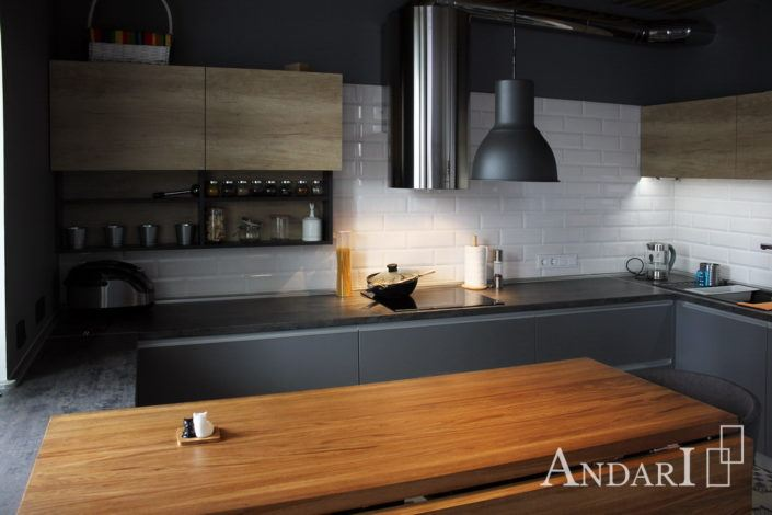 угловая кухня лофт андари